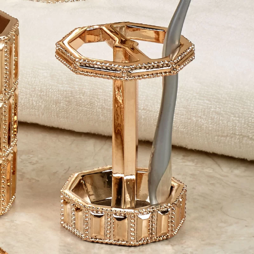 Bling for your bathroom Glittering Gold Toothbrush Holder
