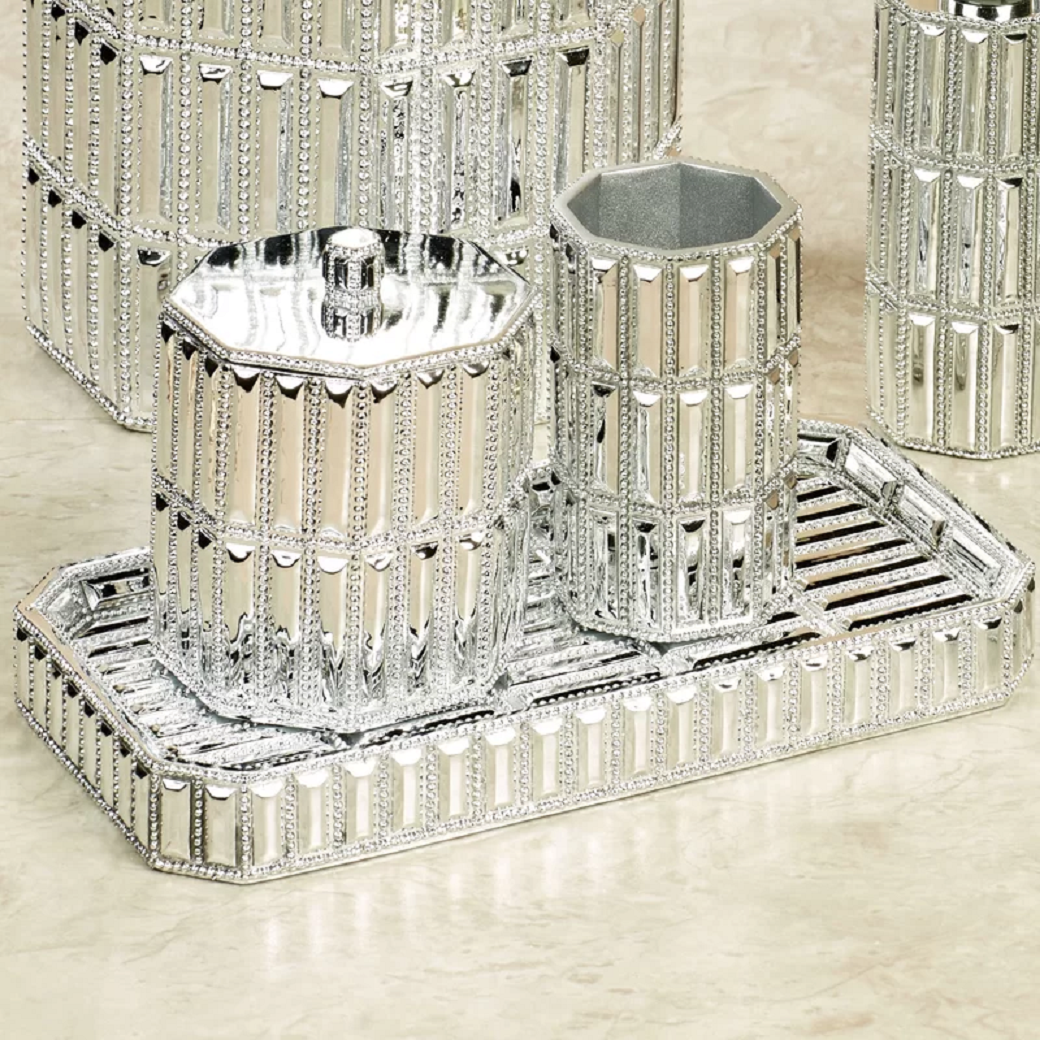 Bling for your bathroom Sparkling Bathroom Accessory Tray
