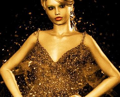 gold dress at sequinqueen