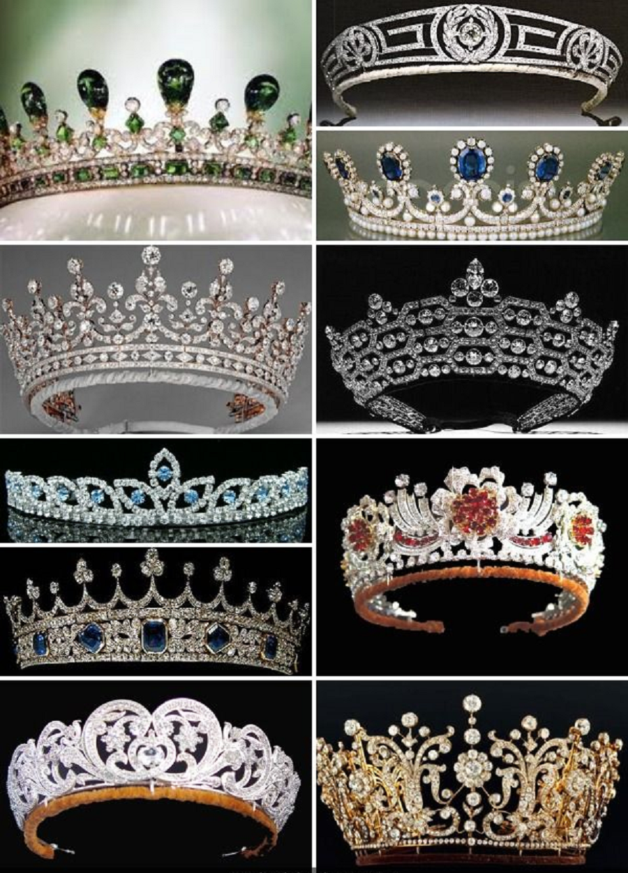 Royal bling A Collection Of the British Royal Family's Crowns