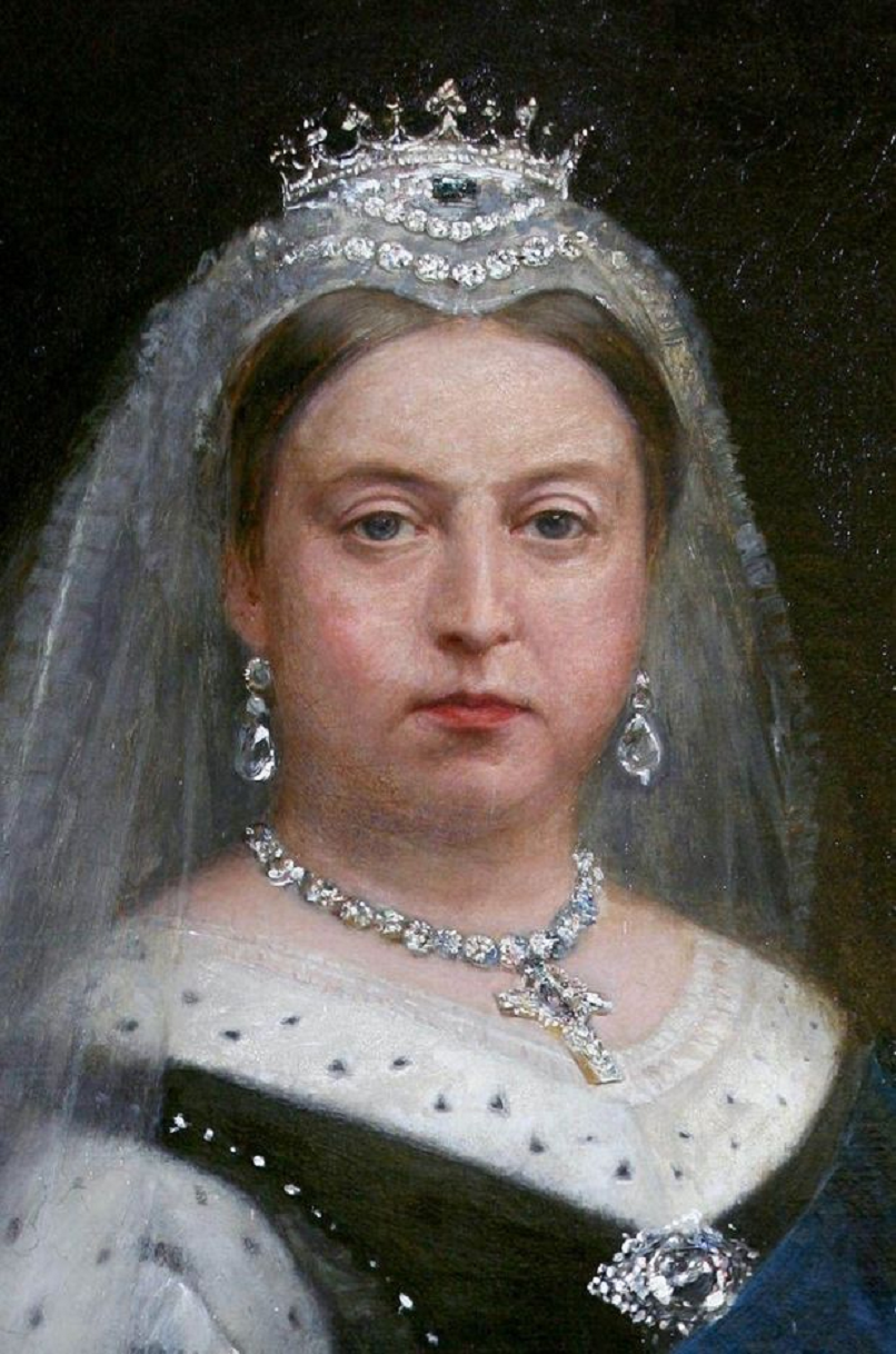 Royal bling Queen Victoria Wearing Her Sapphire and Diamond Tiara
