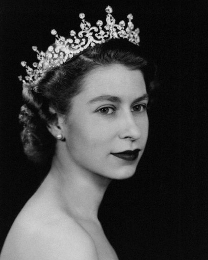 Queen Elizabeth II Wearing Her Diamond Tiara