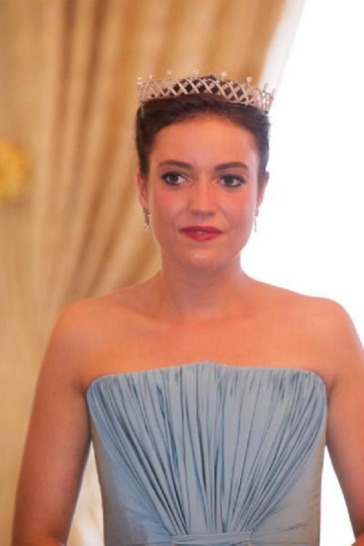 Royal bling Grand Duchess Maria Teresa Wearing the Belgian Scroll Glittering Diamond Tiara