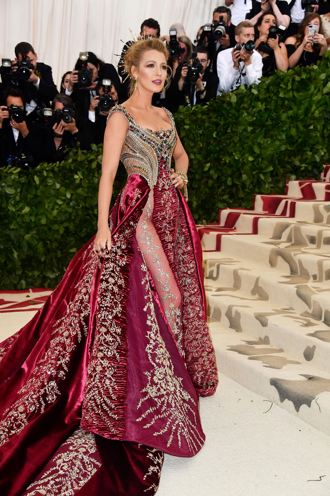 Best bling dresses online 2021 Richly Embellished Burgundy Dress with An Embroidered Skirt