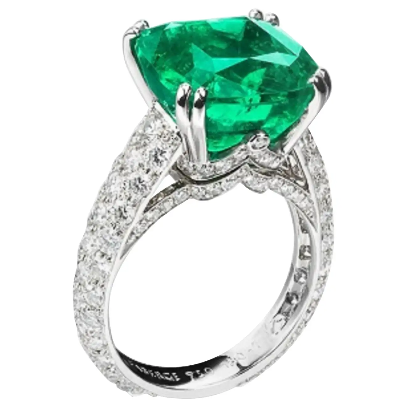 Best massive bling rings 2021 Three Colours of Love Emerald and Diamond Ring