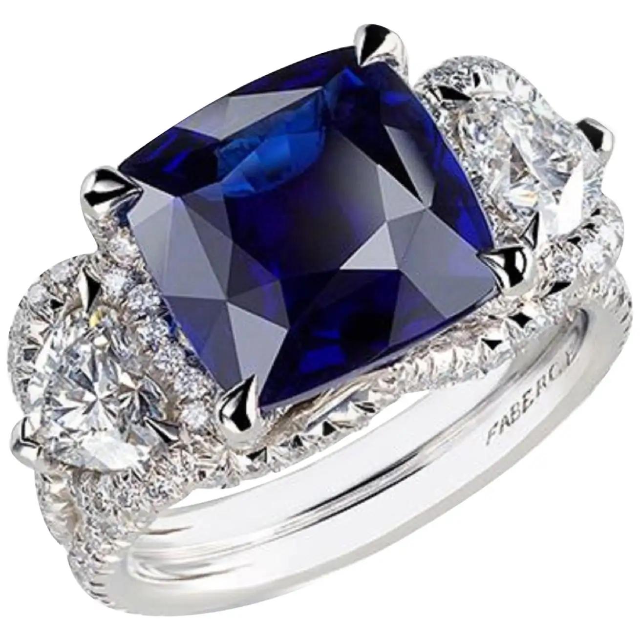 Best massive bling rings 2021 Glittering Diamonds with Vibrant Sapphire Gem Stone Ring