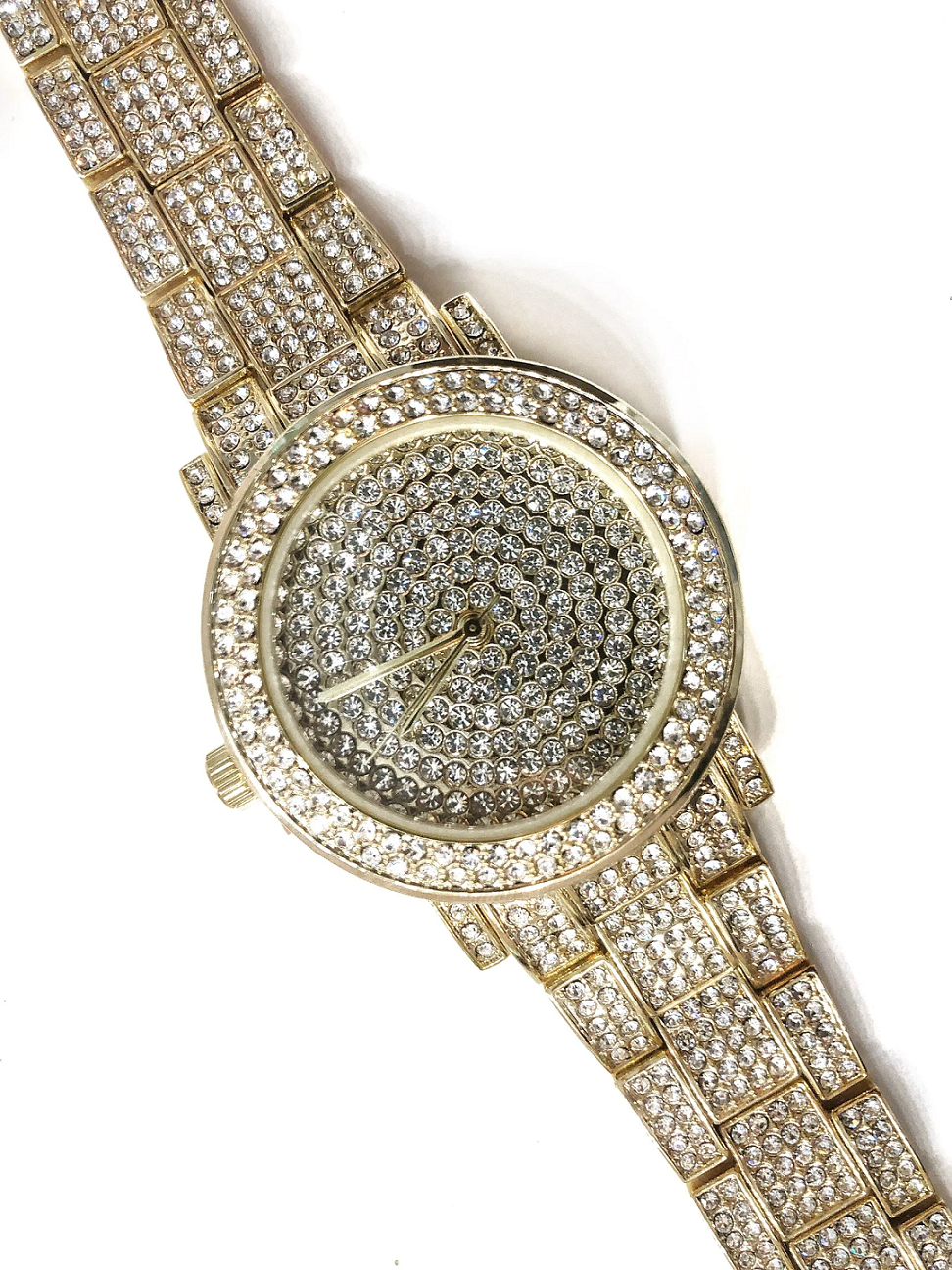 BEST WOMEN'S Bling WATCHES 2021 Rich Gal Gold Watch with Diamond Dial and Bracelet Strap