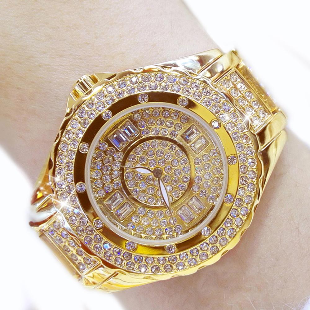 BEST WOMEN'S Bling WATCHES 2021 Diamond Wrist Quartz Watch with Rhinestones and Metal Straps