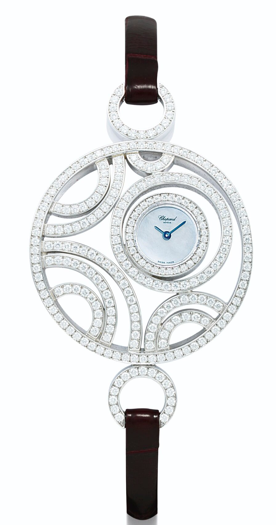 BEST WOMEN'S Bling WATCHES 2021 White Gold And Diamond-Set Wristwatch with MOTHER-OF-PEARL Dial By Chopard