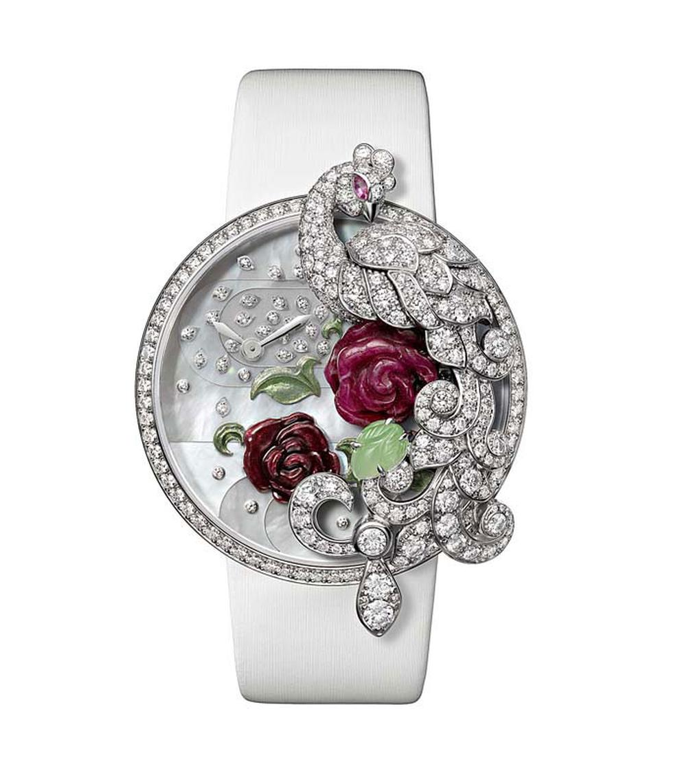 BEST WOMEN'S Bling WATCHES 2021 Cartier Fabuleux Peacock Watch, In 18ct Rhodium-Plated White Gold Set with Brilliant-Cut Diamonds