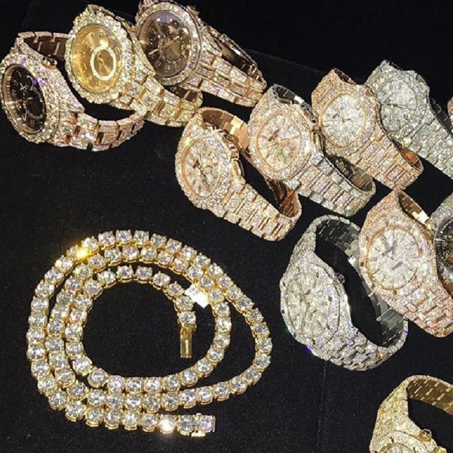 Best Hip Hop Bling 2021  Blinged Out Watches with Diamonds and Chain