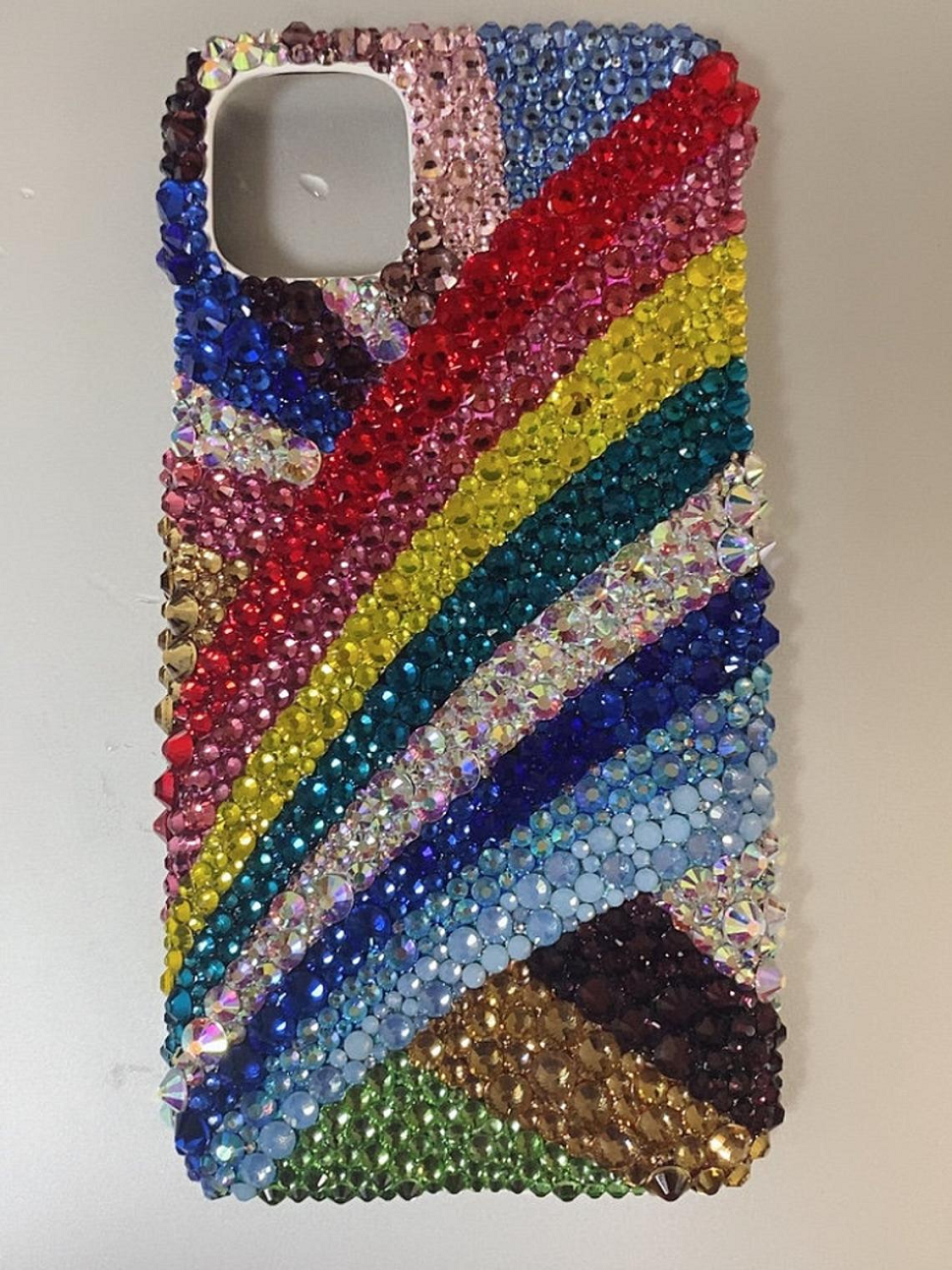 Best Cellphone Case Bling 2021:  Luxury Handcarft Bling Out Phone Case with Swarovski Multi-Color Crystal