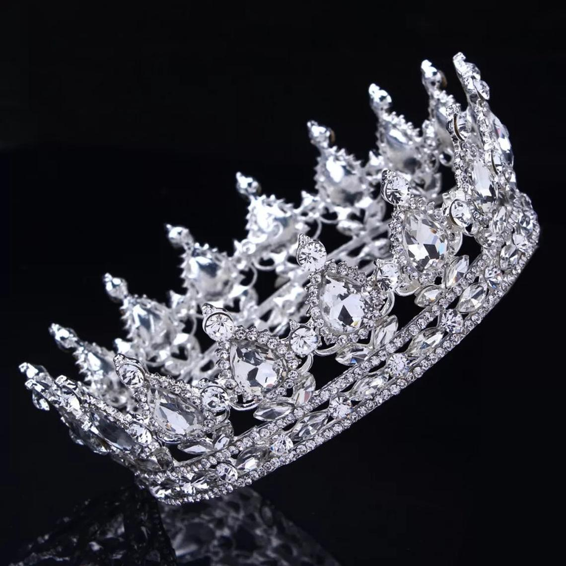 Best Tiara Bling Online: Floral Headband with Tiara Crystal and Diamonds
