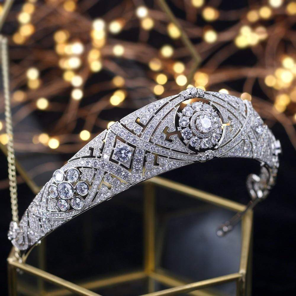 Best Tiara Bling Online: The Megan Markle Bridal Tiara with Diamonds and Rhinestones