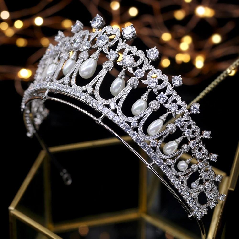 Best Tiara Bling Online: Crystals and Peals Cubic Zircon Tiara
