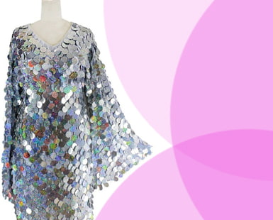 Stunning SILVER SEQUIN Dresses