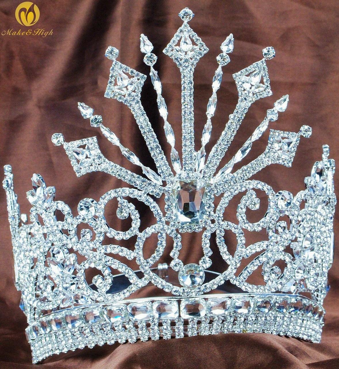 "Best Tiara Bling Online: Pageant 7"" Tiara Crown with Austrian Rhinestones and Diamonds"