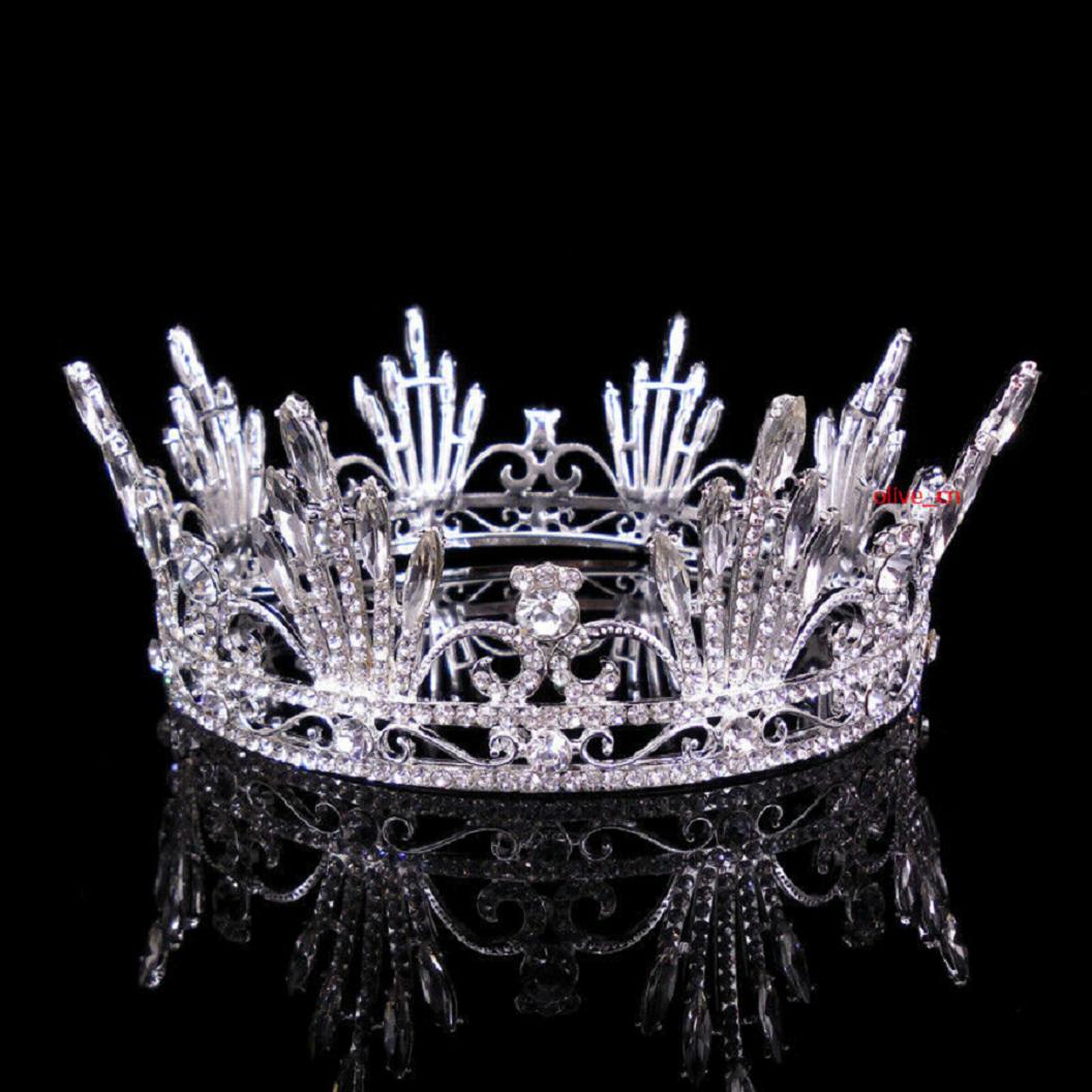 Best Tiara Bling Online: Full Crystal with Rhinestones Wedding Bridal Crown
