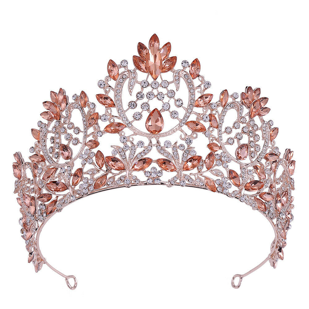 Best Tiara Bling Online: High Crystal Large Tiara with Crystals and Rhinestones