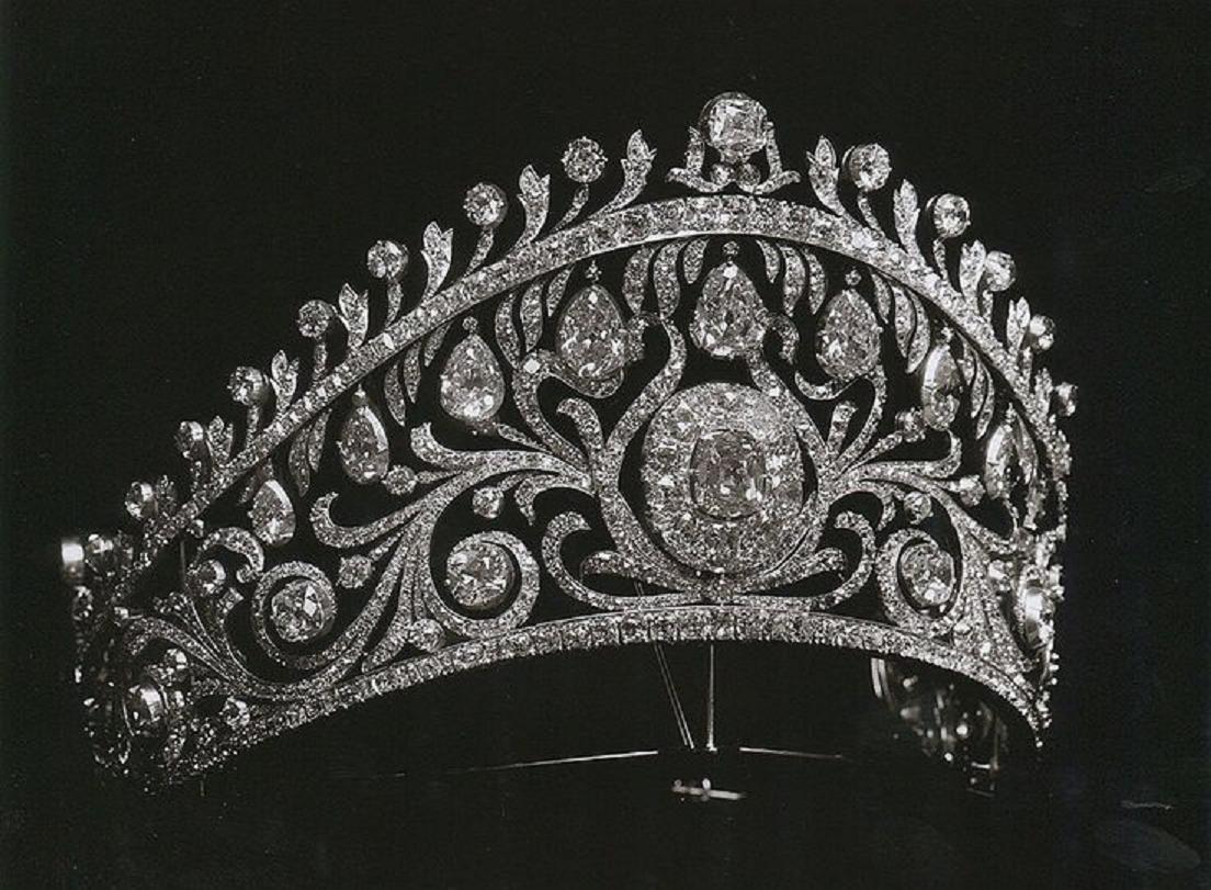 Best Tiara Bling Online: The Yugoslavian Diamond Kokoshnik Tiara